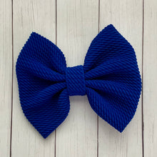 Load image into Gallery viewer, Fabric Bow- ROYAL