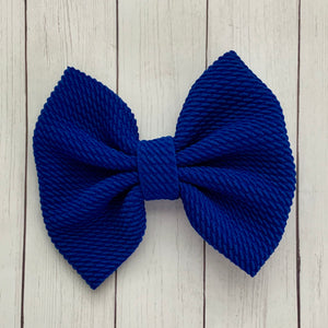 Fabric Bow- ROYAL