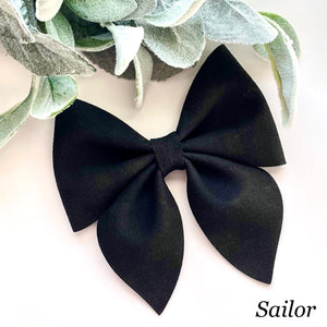 Suede Bow- BLACK