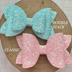 Glitter Bow- CLOUD SHIMMER