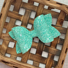 Load image into Gallery viewer, Glitter Bow- SEAFOAM SHIMMER
