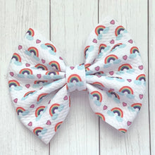 Load image into Gallery viewer, Fabric Bow- RAINBOWS