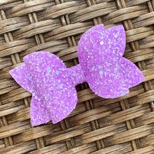Load image into Gallery viewer, Glitter Bow- GRAPE SHERBET