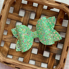 Load image into Gallery viewer, Glitter Bow- SEA GLASS