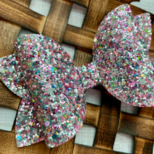 Load image into Gallery viewer, Glitter Bow- UNICORN TEARS