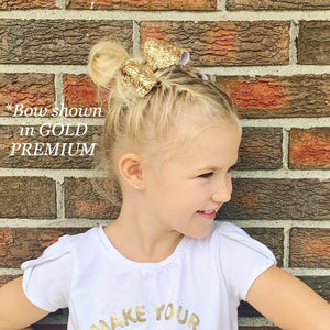 Glitter Bow- OLD GOLD PREMIUM