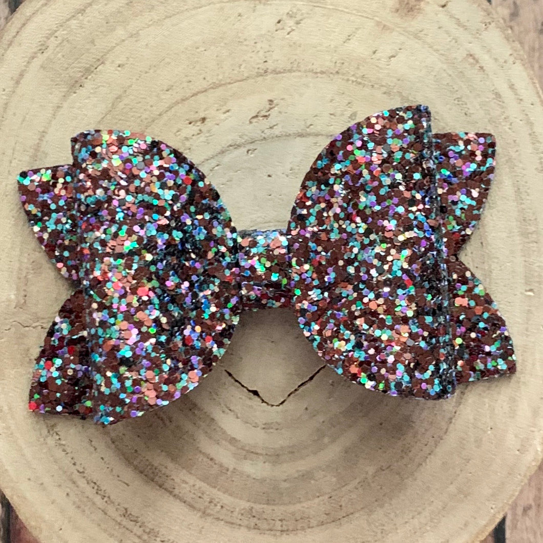 Glitter Bow- SUNKISSED TOPAZ