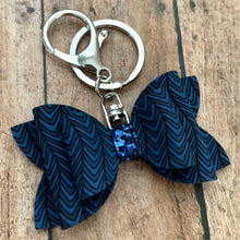 Load image into Gallery viewer, Keychain- BLUE CHEVRON