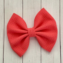 Load image into Gallery viewer, Fabric Bow- CORAL