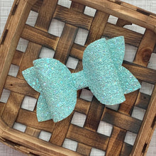 Load image into Gallery viewer, Glitter Bow- ARCTIC SHIMMER