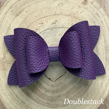 Load image into Gallery viewer, Leather Bow- PURPLE