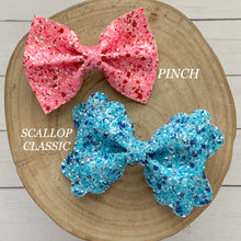 Load image into Gallery viewer, Glitter Bow- CREAMSICLE