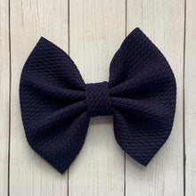 Load image into Gallery viewer, Fabric Bow- NAVY