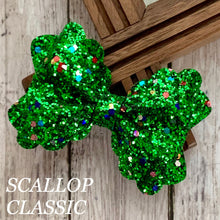 Load image into Gallery viewer, Glitter Bow- GREEN FUNFETTI