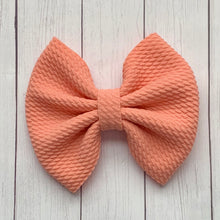 Load image into Gallery viewer, Fabric Bow- SALMON