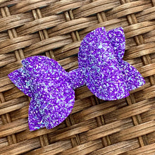 Load image into Gallery viewer, Glitter Bow- PURPLE PASSION