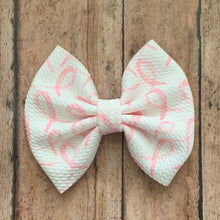 Load image into Gallery viewer, Fabric Bow- PINK RIBBONS