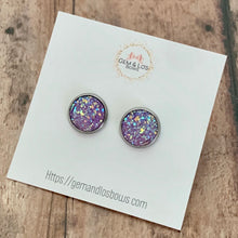 Load image into Gallery viewer, Earrings- LAVENDER GLACÉ DRUZY