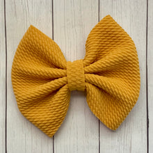 Load image into Gallery viewer, Fabric Bow- MUSTARD