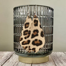 Load image into Gallery viewer, Earrings- CREAM LEOPARD SUEDE