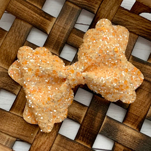 Glitter Bow- CREAMSICLE