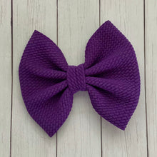 Load image into Gallery viewer, Fabric Bow- PURPLE