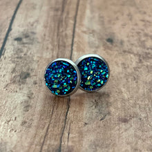 Load image into Gallery viewer, Earrings- DEEP BLUE SEA DRUZY