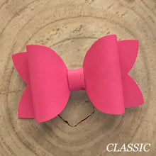 Load image into Gallery viewer, Leather Bow- SMOOTH ROSE