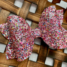 Load image into Gallery viewer, Glitter Bow- STRAWBERRY SHORTCAKE