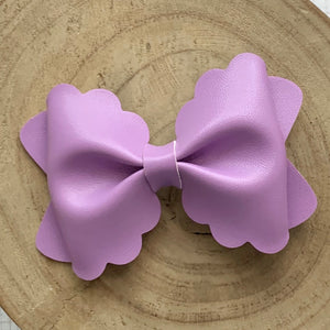 Leather Bow- SMOOTH ORCHID