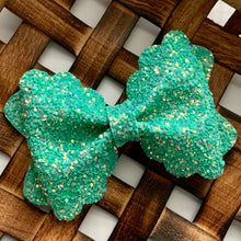 Load image into Gallery viewer, Glitter Bow- MINT JULEP