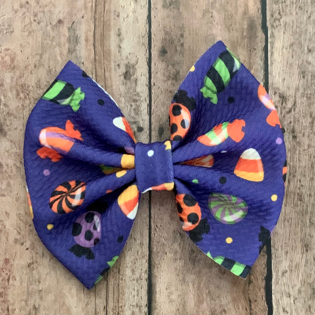 Fabric Bow- HALLOWEEN CANDY