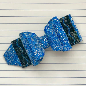 Glitter Bow- BLUE CRAYON