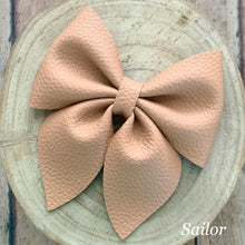 Load image into Gallery viewer, Leather Bow- PEANUT