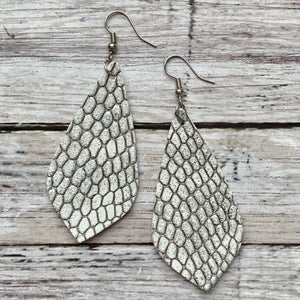 Earrings- SILVER SNAKESKIN