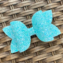 Load image into Gallery viewer, Glitter Bow- BLUE RASPBERRY SHERBET