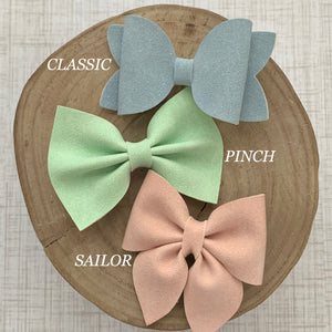 Suede Bow- CYPRESS SPARKLE