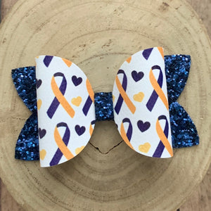 Leather Print- DOWN SYNDROME RIBBON