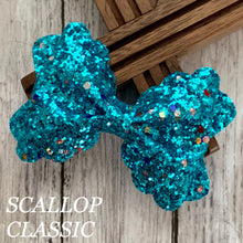 Load image into Gallery viewer, Glitter Bow- TURQUOISE FUNFETTI