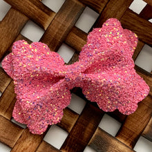 Load image into Gallery viewer, Glitter Bow- POP PINK
