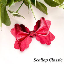 Load image into Gallery viewer, Leather Bow- METALLIC RED