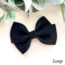 Load image into Gallery viewer, Suede Bow- BLACK