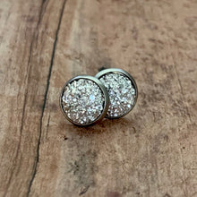 Load image into Gallery viewer, Earrings- SILVER DRUZY