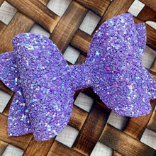 Load image into Gallery viewer, Glitter Bow- LAVENDER SHIMMER