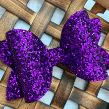 Load image into Gallery viewer, Glitter Bow- PURPLE PREMIUM