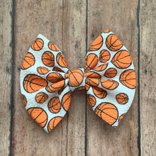 Load image into Gallery viewer, Fabric Bow- BASKETBALL