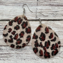 Load image into Gallery viewer, Earrings- FURRY BUFF LEOPARD
