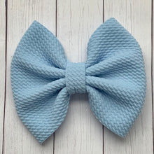 Load image into Gallery viewer, Fabric Bow- BABY BLUE