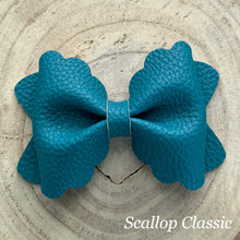 Load image into Gallery viewer, Leather Bow- TEAL