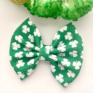 Fabric Bow- SHAMROCKS